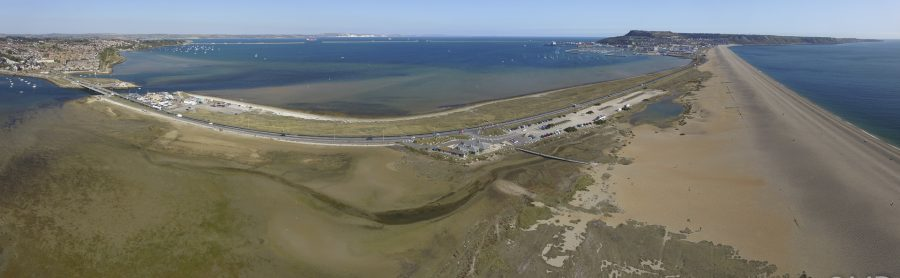 Portland Harbour and the connection to the Fleet at Ferry Bridge. Image: Matt Doggett